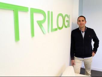 Màrius Rossell és el director general de Trilogi, que desenvolupa botigues virtuals.  JUANMA RAMOS