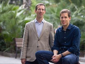 Oriol Bes i Urs Rothmayr dirigeixen el capítol barcelonís de The Founder Institute.  MARTA PÉREZ