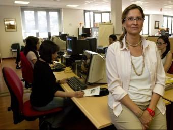 Carlota Lasierra, directora general de BGS a l'oficina de Barcelona.  ALBERT SALAMÉ