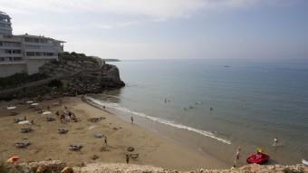 La cala Llenguadets , una de les sorpreses que reserva el Cap Salou JOSÉ CARLOS LEÓN