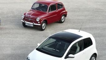 Els Seat 600 i Mii, en les variants de dues i quatre portes.  Foto:SEAT