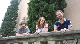 Oriol Saltor, Virginia Martínez i Jaume Saltor, components de La Porta dels Somnis. A. AGUILAR