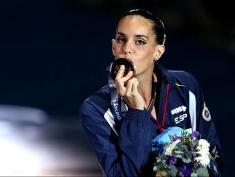 La nadadora Ona Carbonell ha aconseguit molts dels seus objectius al campionat del món de Barcelona.  EFE
