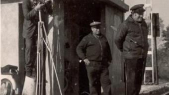 Tomàs Mallol, en una foto d'arxiu rodant un dels seus curts MUSEU DEL CINEMA