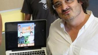 Robert Bellsolà, al viver empresarial de Salt, on ultima amb el seu equip la preproducció del film LLUÍS SERRAT