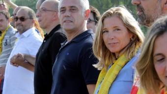 La vicepresidenta del govern, Joana Ortega, a la Via Catalana ACN
