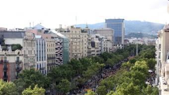 La Via Catalana, al seu pas pel Passeig de Gràcia de Barcelona ACN