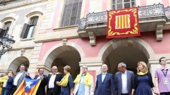 Diputats d'ERC, ICV-EUiA i el PSC, la consellera Irene Rigau i l'expresident del Parlament Joan Rigol, van assistir a la cadena humana independentista ANDREU PUIG