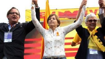 Josep Maria Vila d'Abadal, Carme Forcadell i Muriel Casals ACN