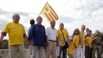 Santos i Llach , al costat de Portabella, Carod i la seva esposa ACN