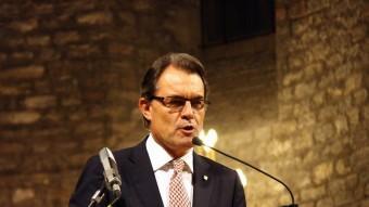 El president de la Generalitat, Artur Mas, aquest dimecres al Monestir de Ripoll ACN