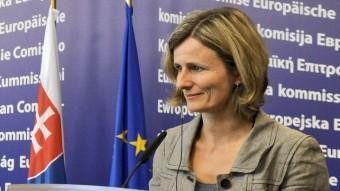 Pia Ahrenkilde , portaveu de la Comissió Europea ACN