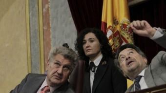 El president del Congrés, Jesús Posada (esquerra), ha estat l'encarregat de llegir la declaració de condemna del Congrés EFE