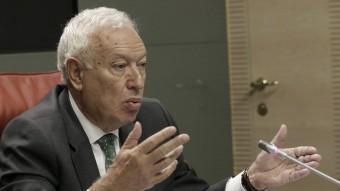 El ministre espanyol d'Exteriors, José Manual García-Margallo, aquest dijous al Palau de Viana EFE