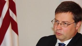 El primer ministre de Letònia, Valdis Dombrovskis ACN