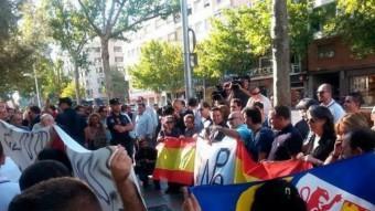 Concentració de suport als detinguts que, ahir, van ser posats en llibertat
