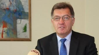 El primer ministre de Lituània, Algirdas Butkevicius, durant l'entrevista ACN