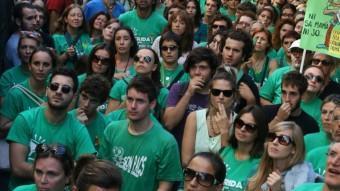 Una de les concentracions davant de la conselleria d'Educació de Palma de Mallorca EL PUNT AVUI