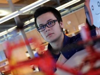 Enrique Cuevas, cofundador de Gamiweb, al Citilab de Cornellà.  Foto:QUIM PUIG