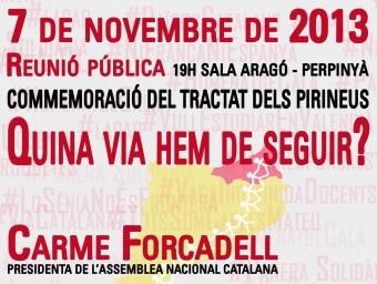 Cartell de la manifestació del dia 7 de novembre