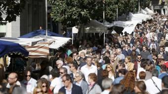 La Rambla de Girona, plena de gom a gom David Borrat / Iconna