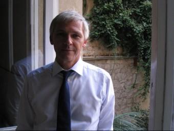Michael Best, portaveu del president del Bundesbank, Jens Weidmann, a la seu del CIDOB, a Barcelona, on ha estat ponent d'un seminari dedicat a a Alemanya  Foto:ARXIU