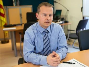 A la imatge, Joan Tarradellas, conseller delegat d'ACCIÓ, al seu despatx del passeig de Gràcia de Barcelona.  Foto:ARXIU