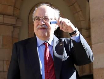 Andreu Mas-Colell va presentar el projecte de pressupostos al Parlament.  Foto:QUIM PUIG