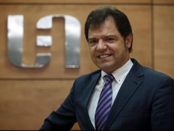 Blai Paco presideix la Unió Empresarial de l'Anoia, amb seu a Igualada, des del juliol.  Foto:JUANMA RAMOS