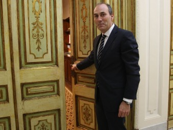 Xavier Ribera, és el president de la Cambra de Comerç de Palamós.  Foto:LLUÍS SERRAT