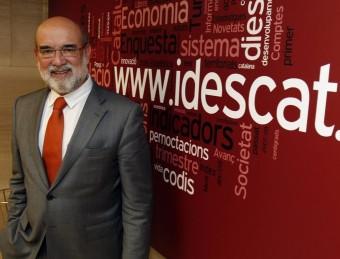 Frederic Udina, a la seu de l'Idescat, també és professor de la UPF.  ORIOL DURAN