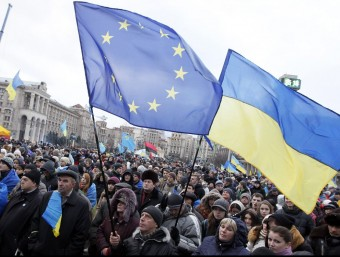 Manifestació proeuropea a Kiev.  SERGEY DOLZHENKO