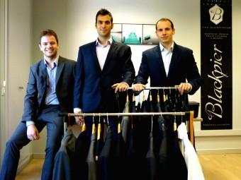 Damià Castells, Sergio Luaces i Robert Cabrera, tres dels socis de Blackpie, a la seva oficina de Lleida.  Foto:BLACKPIER