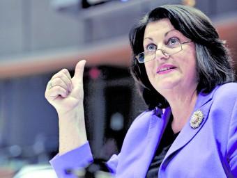 La comissària responsable de 'àrea de recerca, en una compareixença pública.  Foto:ARXIU / COMISSIÓ EUROPEA
