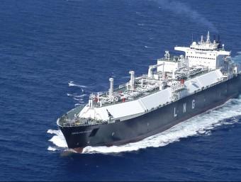 Imatge d'un vaixell metaner que transporta gas natural liquat (GNL).  ARXIU