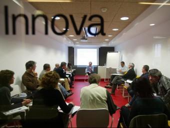 Aula del Centre per a la Iniciativa Emprenedora de Barcelona Activa.  ARXIU