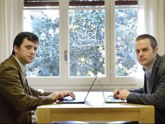Marc Argemí, responsable de Sibilare, i Eloi Font, de Font Advocats.  Foto:JUDIT TORRES