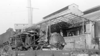 La planta electroúímica de Flix, reconvertida en indústrai de guerra. Arxiu Municipal de Flix