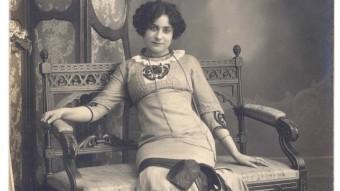 L'actriu Margarida Xirgu a Barcelona, l'any 1910 ARXIU D'IMATGES DEL MUSEU DE BADALONA