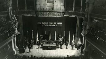 Celebració falangista al Palau de la Música el 29 d'octubre de 1963 EL PALAU DE LA MÚSICA CATALANA. / PÉREZ DE ROZAS