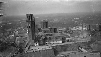 """La Seu Vella de Lleida, camp i presó situat al """"Castillo Principal"""" va deixar de funcionar a l'agost de 1940. ARXIU"""