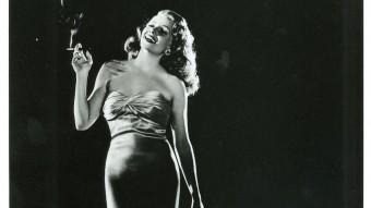 Rita Hayworth  en el seu paper de Gilda MUSEU DEL CINEMA DE GIRONA (COL·LECCIÓ VICENÇ ARROYO)
