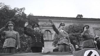 Himmler al Poble Espanyol de  Barcelona el 1940.  Carlos Pérez de rozas / AFB