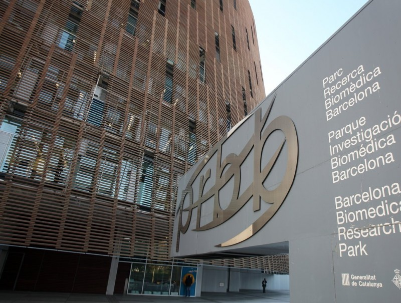 Edifici on s'ubica el PRBB, al passeig Marítim de Barcelona, entre el barris de la Barceloneta i el Port Olímpic.  Foto:ORIOL DURAN
