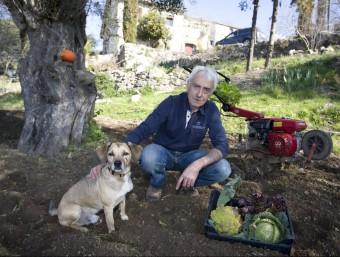 Joan Abad. Organic farmer. LLUÍS SERRAT
