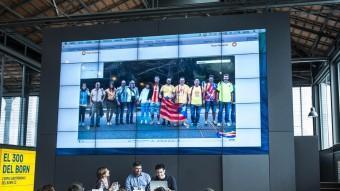 La presentació de la gigafoto que es va fer ahir al Born Centre Cultural de Barcelona Foto:JOSEP LOSADA