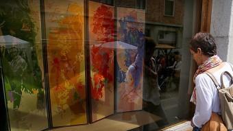 L'homenatge dels pintors Ministral, Antonio Federico i Patxé a la Fira del Dibuix, es va poder veure a la Casa Fages. Foto:MANEL LLADÓ