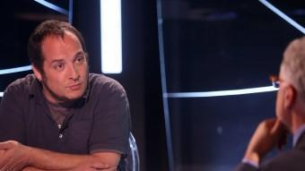 David Fernàndez durant l'entrevista que Xevi Xirgo li va fer ahir a El Punt Avui TV JUANMA RAMOS