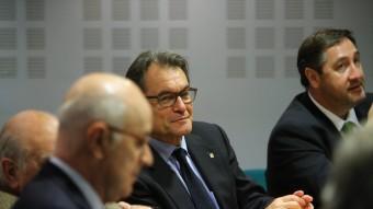 Josep Antoni Duran i Lleida i Artur Mas ahir, en l'executiva de CiU QUIM PUIG