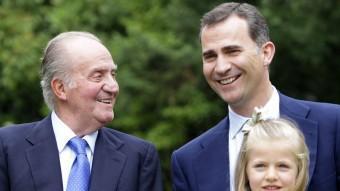 Joan Carles I, amb Felip i Leonor EFE